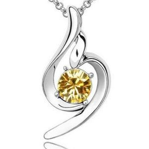 Small Yellow Crystal Necklace